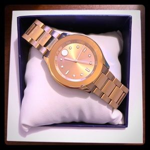 Movado Bold Rose Dial Ladies Watch